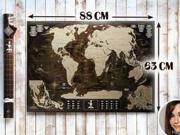 Скретч карта мира My Map Chocolate