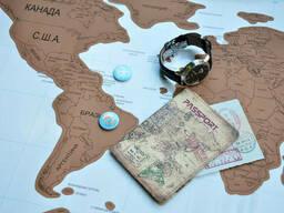 Скретч карта мира (Scratch Map) на русском языке с гербом. .. - фото 5