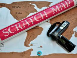Скретч карта мира (Scratch Map) на русском языке с гербом. .. - фото 6