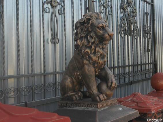Скульптура Льва с шаром маленькая