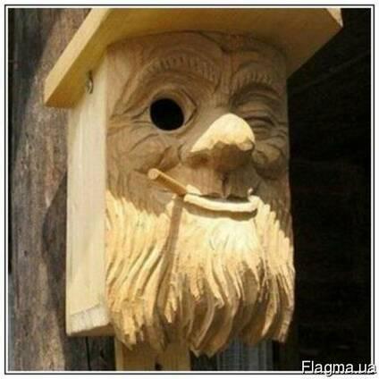 Скворечник деревянный, кормушка для птиц