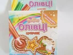 Сладкие карандаши (олівці цукрові) пищевые