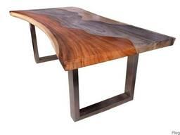 Слеби - столи з коштовних порід дерева. купити столи із слеб
