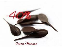 Слезки шоколадные, шоколадный декор