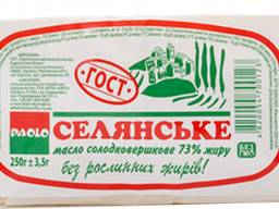 Акция! Масло сливочное натуральное 250г тм ПАОЛО ГОСТ