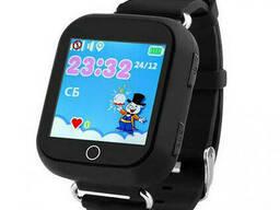 Смарт-часы детские Q100 с GPS, черные