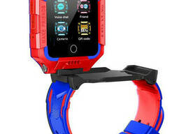 Смарт-часы детские с GPS Brave T10N, красно-голубые