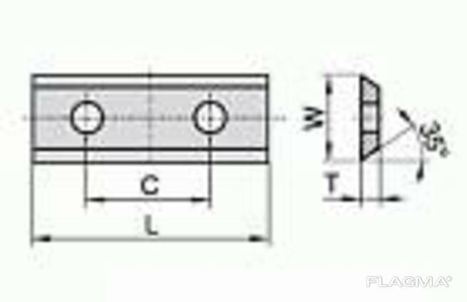 Сменные ножи с 2х сторонней заточкой 100×13×2,2 С 60 мм. ..