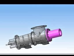Пресс шнековый для брикетов брикетирования торфа, углерода 5 т в час