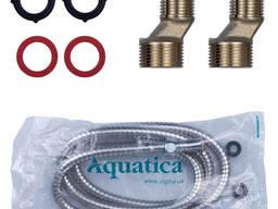 Смеситель HK Ø35 для ванны гусак прямой 350мм дивертор встроенный картриджный Aquatica. ..