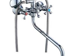 """Смеситель VN ½"""" для ванны гусак изогнутый дивертор. .."""