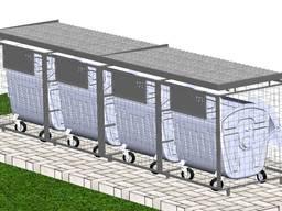 Сміттєві майданчики серії Trend на 3 контейнери