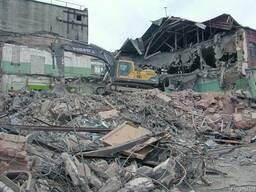 Снос зданий, демонтаж зданий, разборка металлоконструкций