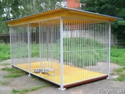 Вольер домики для собак изготовим под заказ.