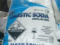 Сода каустическая гранула в мешках по 25 кг Россия