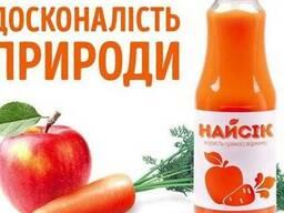 Сок яблочно-морковный натуральный прямого отжима