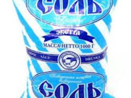 Соль экстра Украина Пакет 1 кг