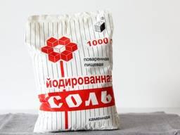 Соль кухонная каменная йодированная в полиэтиленовых пакетах
