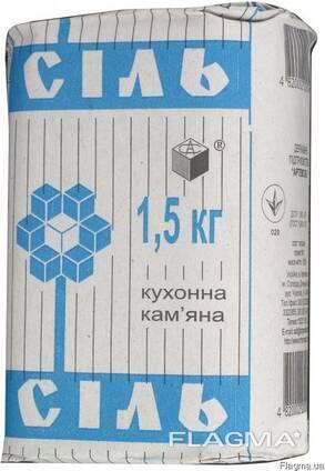 Соль кухонная в пачках 1,5 кг