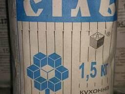 Соль кухонная в пачках 1, 5 кг.
