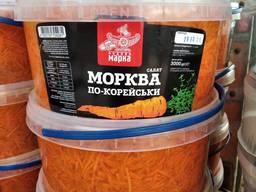 Соленья морковь, капуста, огурцы, помидоры