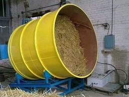 Соломорезка-измельчитель соломы в тюках (500 кг/час).