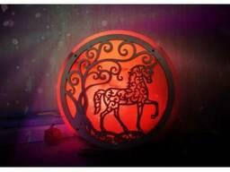 Соляная лампа Единорог