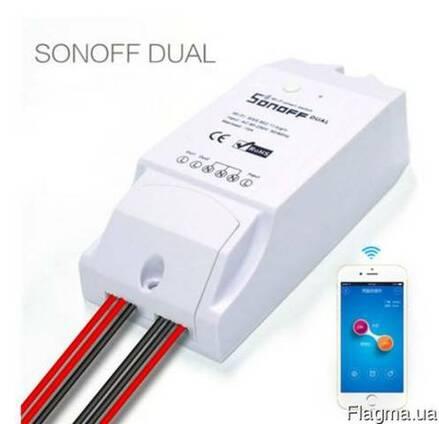 Sonoff Dual 2-х канальный 220V WiFi беспроводной выключатель