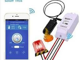 Sonoff TH16 WiFi выключатель измеряет температуру влажность
