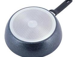 Сотейник Kamille с антипригарным покрытием черный мрамор из алюминия для индукции и. ..