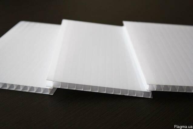 Сотовый поликарбонат белый не прозрачный 4мм