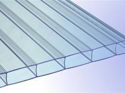 Сотовый поликарбонат GREENHOUSE , цвет прозрачный 4 мм (лист 2,10 х 6 м)