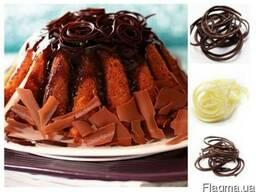 Спагетти шоколадное, шоколадный декор