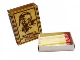 """Спички сувенирные-магнит на холодильник """"Мужественность Благородство Отвага"""""""