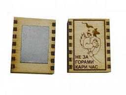 """Спички сувенирные-магнит на холодильник """"Не за горами кары час"""""""