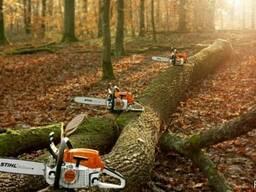 Спил деревьев (большие территории)