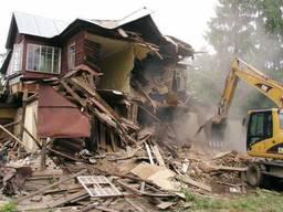 Демонтажные работы. Демонтаж Снос дома, зданий