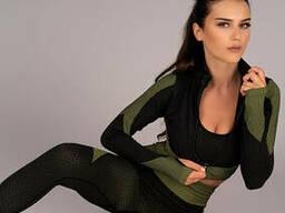 Спортивний костюм Merribel Gym 676, Чорно-зелений, L