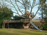 Спортивно игровой комплекс на деревьях