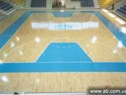 Спортивный паркет для баскетбольных залов