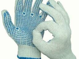 Средства индивидуальной защиты рук, перчатки с ПВХ точкой