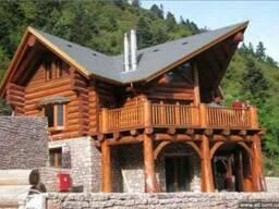 Срубы шале деревяние дома сруб бани дачные дома канадский