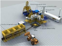 Мобильный асфальтный завод Sinosun CAP60 (60 т/ч)