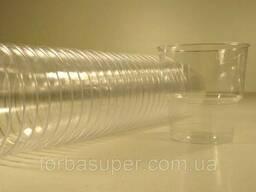 Стакан 200 мл стеклопластиковый прозрачный (25 шт/пач)