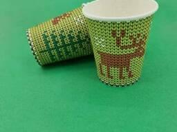 "Стакан для напитков 175мл ""Олени на зеленом"" Маэстро (50 шт)"