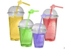 """Склянки пластикові під купольну кришку """" ХТМК"""" 300мл 67шт"""