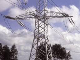 Стальные опоры и металлоконструкции высоковольтных ЛЭП (линий электропередач)