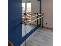 Балетний станок підлогово-настінний фарбований метал