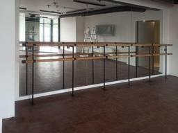 Станок балетний підлогово-настінний фарбований метал