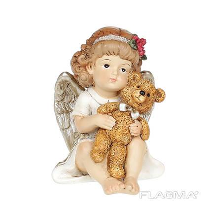 Статуэтка Ангелочек с мишкой 7 см.